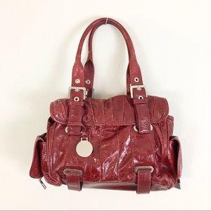Vintage Stuart Weitzman Bag Handbag Red Patent Leather
